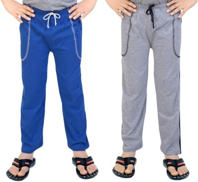 Be 13 Solid Baby Boy's Blue, Grey Track Pants