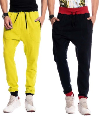 Brohood Bro Solid Men,s Yellow, Black Track Pants