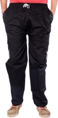 AADUKI Solid Men's Black Track Pants