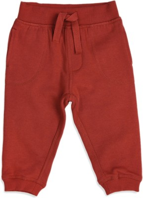 Mothercare Solid Baby Boy's Red Track Pants