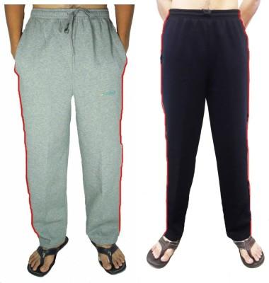 Bluedge Solid Men,s Grey, Black Track Pants