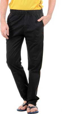 Burdy 571 Night Wear Solid Men's Black Track Pants