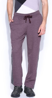 HRX by Hrithik Roshan Solid Men's Purple Track Pants