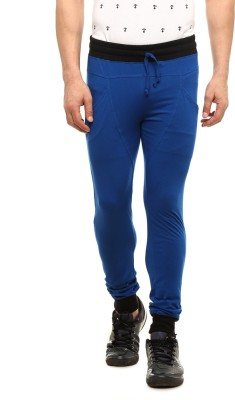 Gritstones Solid Men's Blue Track Pants