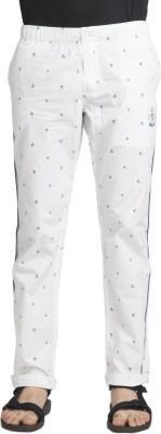 Beevee Printed Men's White Track Pants