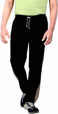 SPORTEE Solid Men's Black Track Pants