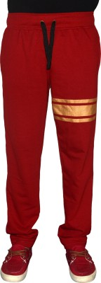 Crux&Hunter Solid Men's Red Track Pants