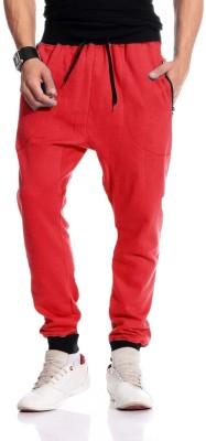 Brohood Solid Men,s Red Track Pants