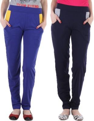 Coaster Solid Women's Blue, Dark Blue Track Pants