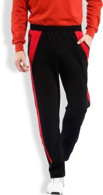 2go Solid Men's Black, Red Track Pants