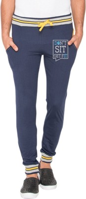 Campus Sutra Printed Men's Blue Track Pants