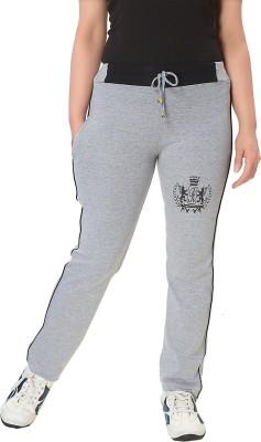 KuuKee Fashion Solid Women's Grey Track Pants