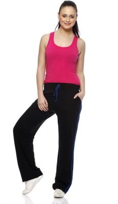Gritstones Solid Women's Black, Blue Track Pants