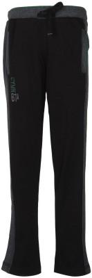 Cayman Solid Boy's Black Track Pants