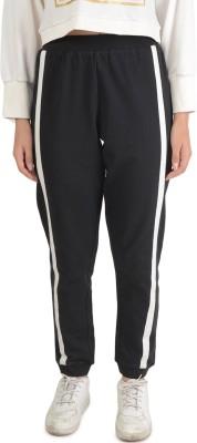 Bonhomie Self Design Women's Black Track Pants