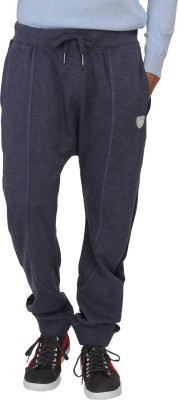 Being Human Solid Men's Blue Track Pants