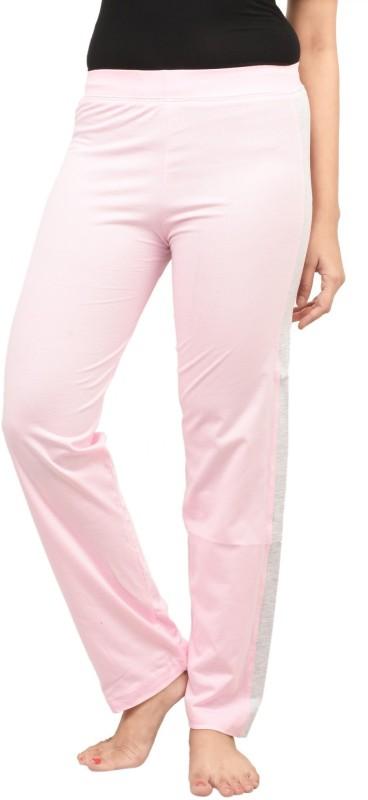 Nite Flite Solid Women's Pink, Grey Track Pants