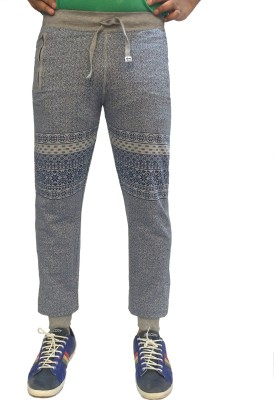 London Eye Printed Men's Grey Track Pants
