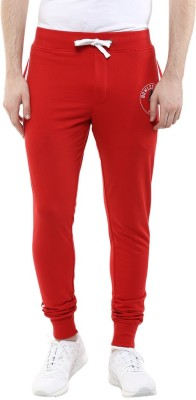 WEAR YOUR MIND Solid Men's Red Track Pants
