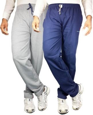 Bluedge Solid Men,s Grey, Dark Blue Track Pants