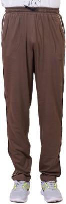 Tab 91 Men's Lower Solid Men's Brown Track Pants