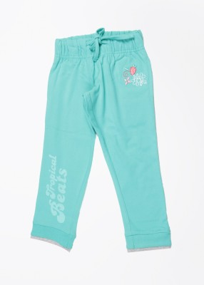 Max Solid Girl's Blue Track Pants