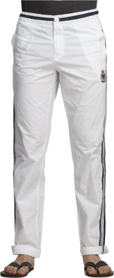 Beevee Solid Men's White Track Pants
