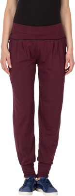 Lovable Solid Women's Maroon Track Pants