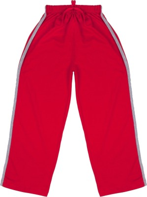Hunny Bunny Solid Girl's Red Track Pants