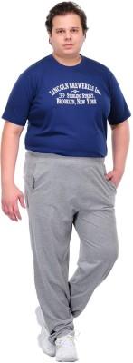 PlusS i Solid Men's Grey Track Pants