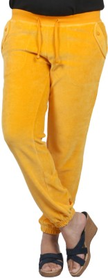 Pinellii Breeze Pant Marigold Solid Women's Yellow Track Pants