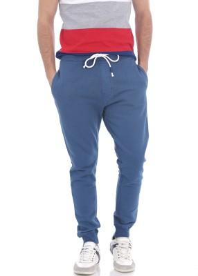 Basics Solid Men's Blue Track Pants