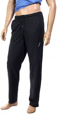 Fitsoul Solid Men,s Black Track Pants