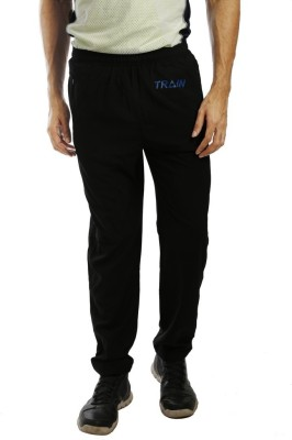 Anger Beast Solid Men's Black Track Pants