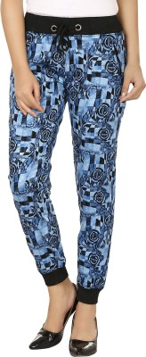 Fashion Cult Stylish Delight Printed Women's Blue, Black Track Pants