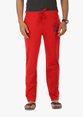 Wear Your Mind Graphic Print Men's Red Track Pants