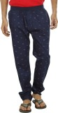 Leg-In Printed Men's Blue Track Pants