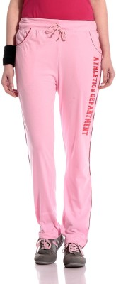 Tab 91 Summer 2019 Solid Women's Pink Track Pants