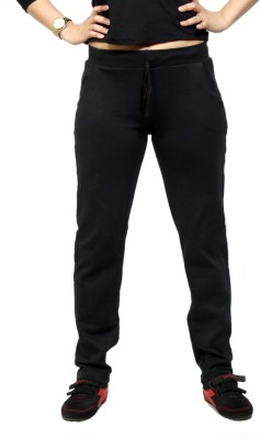 By The Way Solid Women's Black Track Pants