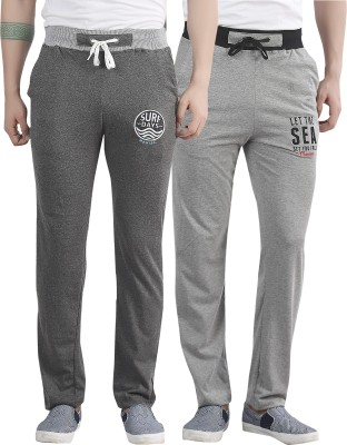 Maniac Embroidered Men's Grey, Silver Track Pants