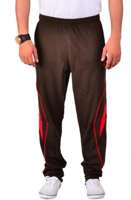 Vego Vego Cotton Olive Dual Zip Pocket Track Pant Solid Men's Dark Green Track Pants