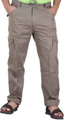 Sapper Solid Men's Denim Brown Track Pants