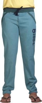 AVOQ-Style Reboot Zipper Pocket Solid Men's Green, Dark Blue Track Pants