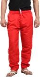 X-Cross Solid Men's Red Track Pants