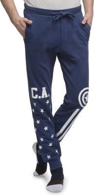 Captain America Printed Men's Blue Track Pants