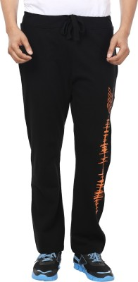Ruse Solid Men's Black Track Pants