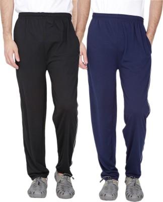 Fizzaro Solid Men's Black, Blue Track Pants
