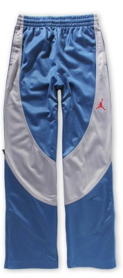 Jordan Kids Solid Boy's Blue, Grey Track Pants