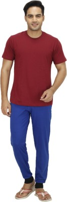 Candy House Solid Men's Blue Track Pants