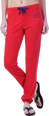 Wake Up Competition Solid Women's Red Track Pants
